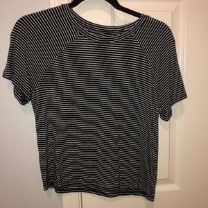 Stripped American eagle shirt